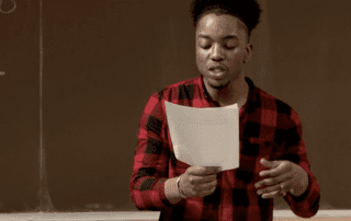 Students Reading Poetry at Poetry Slam
