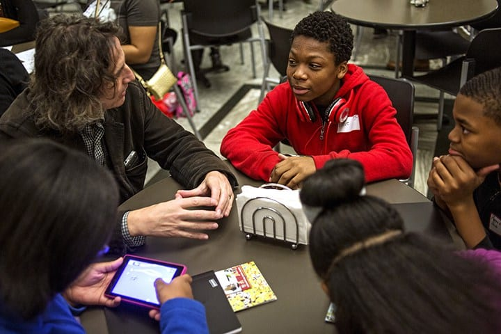 Students at After School Program Detroit