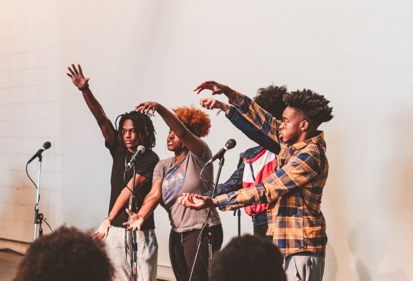 Detroit Youth Poetry Slam Team LTAB 2019